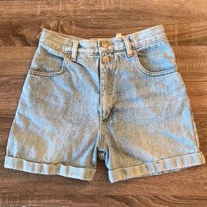 Pants - high waisted denim mom shorts